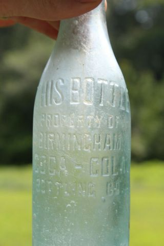 Birmingham Alabama Coca Cola Soda Water Bottle Block Letter Ala Al Rare