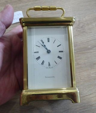 Quality Vintage Tiffany & Co Quartz Carriage Clock