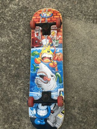 Vintage World Industries Flameboy Wet Willy Skateboard Mega Rare 90s 2000s