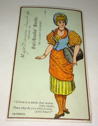Rare Antique Victorian American Fairbanks Scale Weight Advertising Trade Card