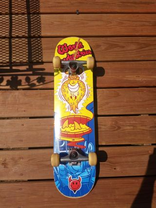 Rare Vintage World Industries Complete Skateboard.