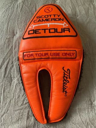Scotty Cameron Circle T Putter Cover Detour For Tour Use Only Rare