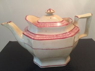 Antique 18th Century Staffordshire Pearlware Teapot