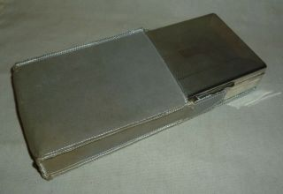 Vintage Engine Turned Aristocrat Silver Plate Cigarette Box With Wood Liner