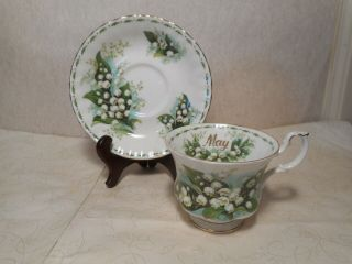 Royal Albert Bone China Teacup And Saucer Lily Of The Valley May
