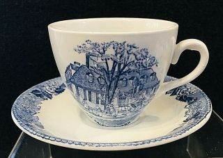 Old Alfred Meakin Demi Cup & Saucer The Raleigh Tavern Old English Staffordshire