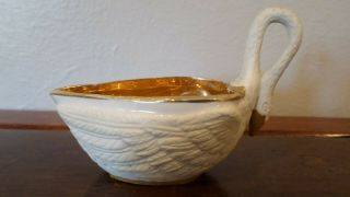 M.  Imp Le De Sevres Porcelain Creamer Gold And Goose Decoration