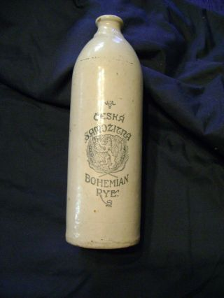 Minnesota Stoneware - Red Wing Stoneware Whiskey Jug Advertising Bohemian Rye