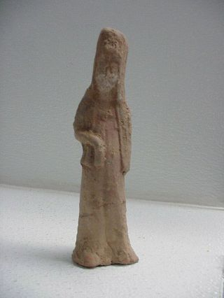 """6.  5 """" Tall Ancient Chinese Pottery Figure Statue Around 2,  000 Years Old Guarantee"""