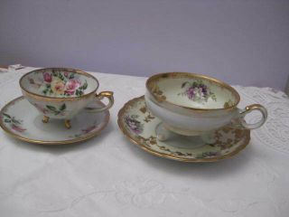 Tea Cups And Saucers - Napco & Shafford