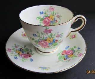 "Antique "" Delphine China "" Porcelain Tea Cup & Saucer,  England"