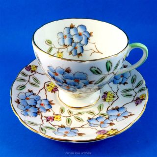 "Handpainted Chintz Foley "" Springdale "" Cup & Saucer"