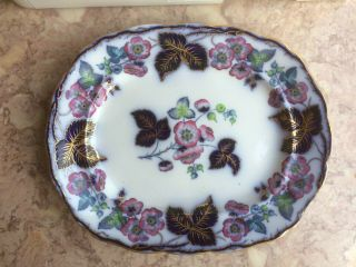 Antique F M & Co Blossom Platter Ironstone China
