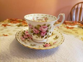 "Royal Albert - "" June Roses "" Cup And Saucer."