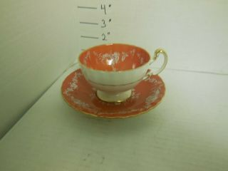 Aynsley Cup And Saucer Floral Gold Trim