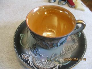 Cup And Saucer Dragon Wear Made In Occupied Japan