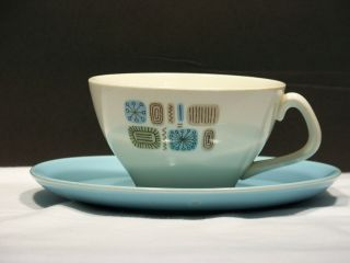 Cannonsburg Temporama Mid - Century Cup And Saucer