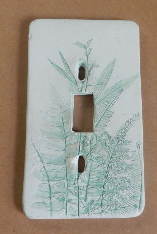 Vintage Handcrafted Ceramic Light Switch Cover