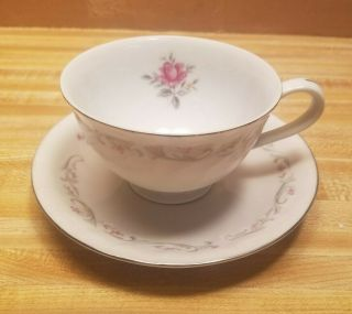 Royal Swirl Fine China Japan Rose Tea Cup And Saucer Combination Great Shape