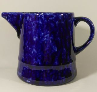 Rare Stangl Pottery Blue Caughley 64 Oz Pitcher For Tiffany & Co