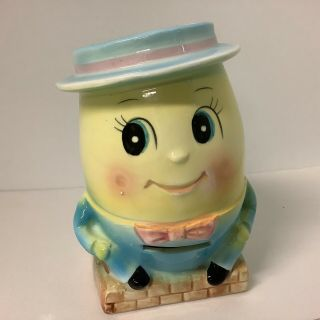 Vtg Humpty Dumpty Sat On A Wall Rubens Bank And Planter Rare Ceramic