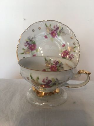 Vintage Tea Cup And Saucer Aaco China Made In Japan (rare) 1960s