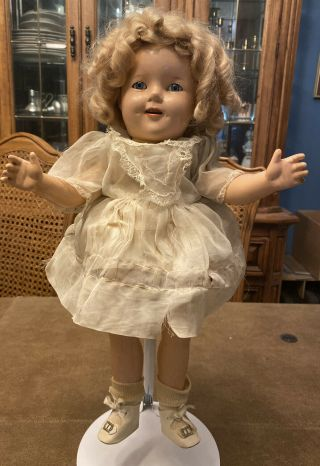 Ideal Vintage Composition 16 Inch Shirley Temple Doll
