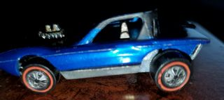Redline Hotwheel Rare Blue 1968 Python One Of The First 16 Aka (cheetah)