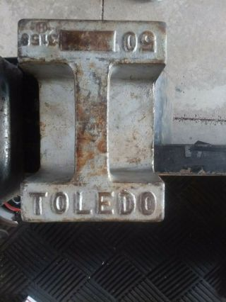 1 50 Lb Pound Vintage Rare Antique Toledo Scale Weight 1 Day