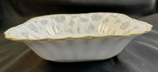 "Rare Spode Colonel Gray 9 - 1/8"" Square Vegetable Salad Serving Bowl Y7144"