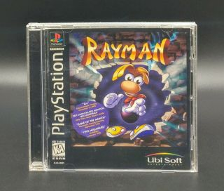 Rayman Playstation 1 Ps1 Ps2 Ps3 Complete Black Label Variant Rare