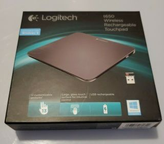 Logitech Touchpad T650 Mouse Rechargeable Wireless - Rare,  Only A Few Times