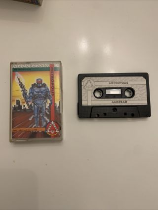 Amstrad Cpc Rare Metropolis - Complete - Fully And