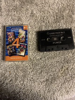 Amstrad Cpc Rare Atlantis Number 1 - Complete - Fully And