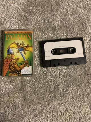 Amstrad Cpc Rare Paladin - Complete - Fully And