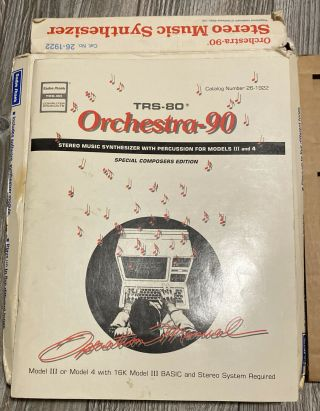 Rare Orch - 90 Stereo Music Synthesizer For Tandy Trs - 80 Model Iii & 4 (26 - 1922)