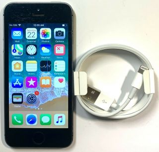 Apple Iphone 5s - 16gb - Space Gray (at&t) A1533 Gsm Good Ios11 Rare 11.  1