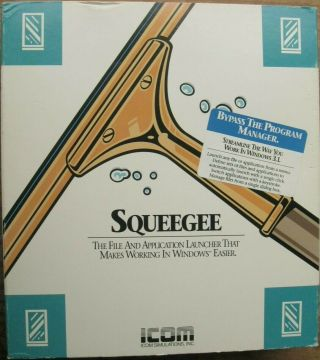 """Squeegee Rare Windows 3.  1 File And Application Launcher Ibm Pc 3.  5 """" Floppy Disk"""