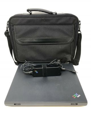 Ibm Thinkpad Type 2628 Laptop W/ Charger And Carry Case Rare