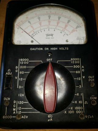 Triplett Model 630 Volt Ohm Milliammeter Multimeter W/batteries