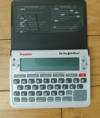 Franklin The York Times Websters Crossword Puzzle Dictionary Nyt - 570cwd Rare