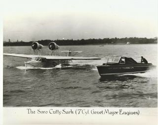 Large And Very Rare Photograph Of A Saro Cutty Sark Flying Boat