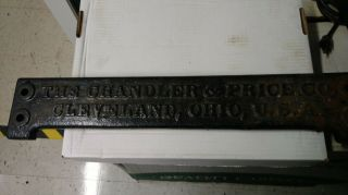 Antique Letterpress Chandler & Price Nameplate Great Display Piece