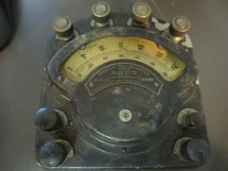 Very Antique Weston Model 280 Volt Ammeter