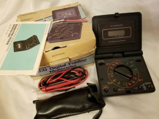 Vintage Micronta Lcd Digital Folding Multimeter 22 - 187