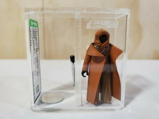 Vintage Star Wars 1977 Vinyl Caped Jawa Afa Graded 85 Nm,