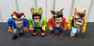 Muscle Mutts Street Wise Designs Complete Set Vintage 1996 Streetsharks