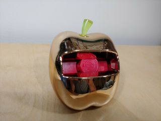 Rare Collectable - Post - It Metallic Gold Apple Pop - Up 3x3 Note Dispenser