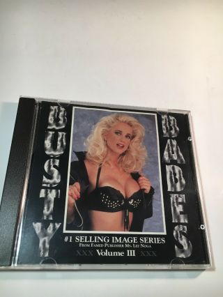Busty Babes Volume Iii - Cd Rom Photo Cd Adult Photos Stories Games Rare 1994