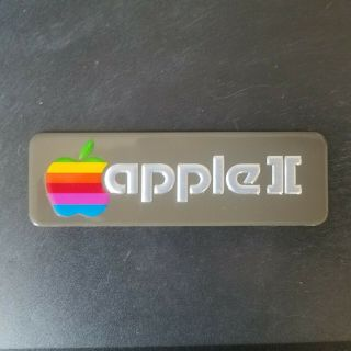 Apple Ii Logo Placard For Apple Ii Computer (rare) Only 2 Left
